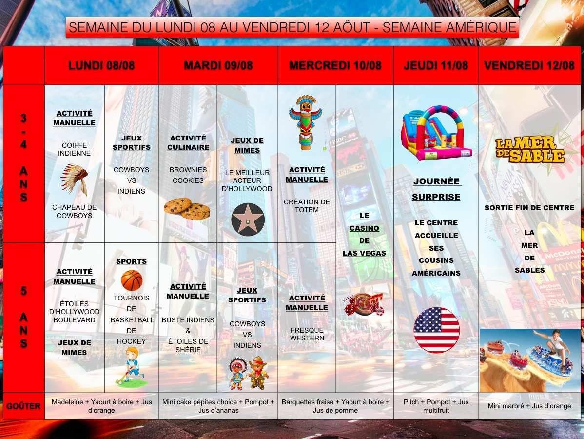 Programme des maternelles