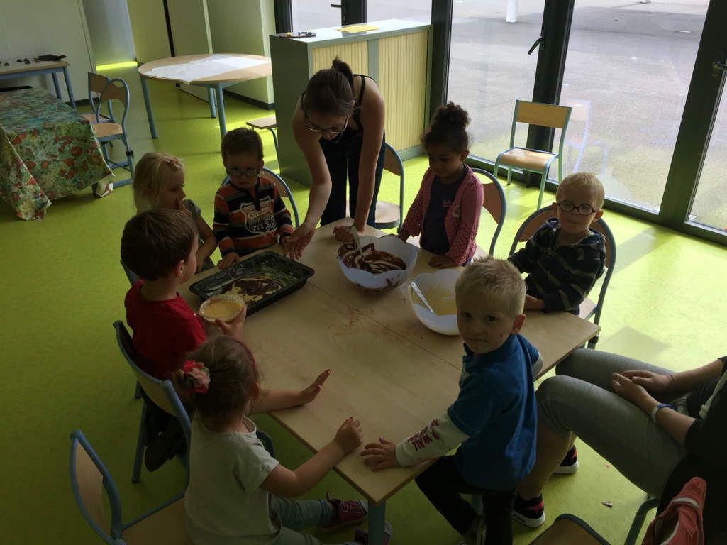 A vos fourneaux chez les 3-4 ans : Gâteau marbré