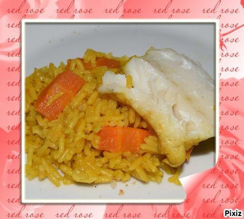 Dos de cabillaud et son riz au curcuma plaisir de - Cuisiner un dos de cabillaud ...