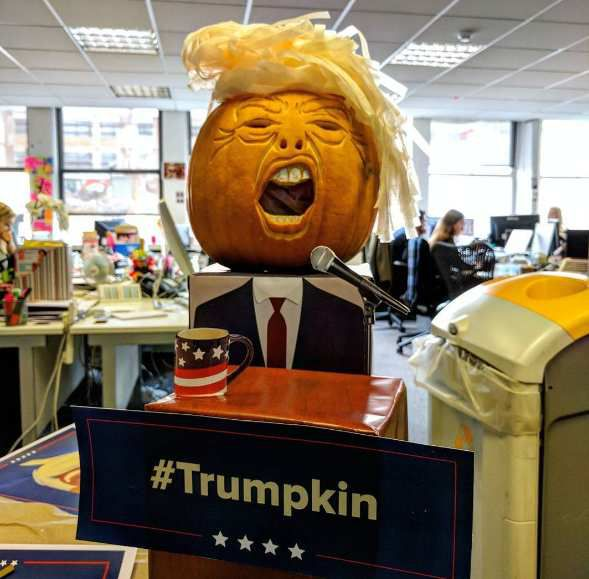 Halloween 2016, la citrouille Donald Trump fait fureur (Trumpkins)