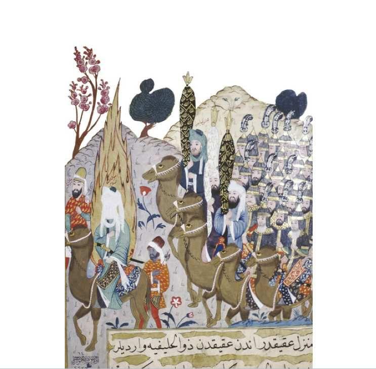 La conquête de La Mecque, Miniature iranienne, XIVᵉ siècle (musée de Topkapi, Istanbul).