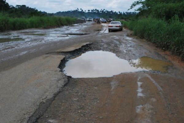 Calabar Major highway in Bad Condition.