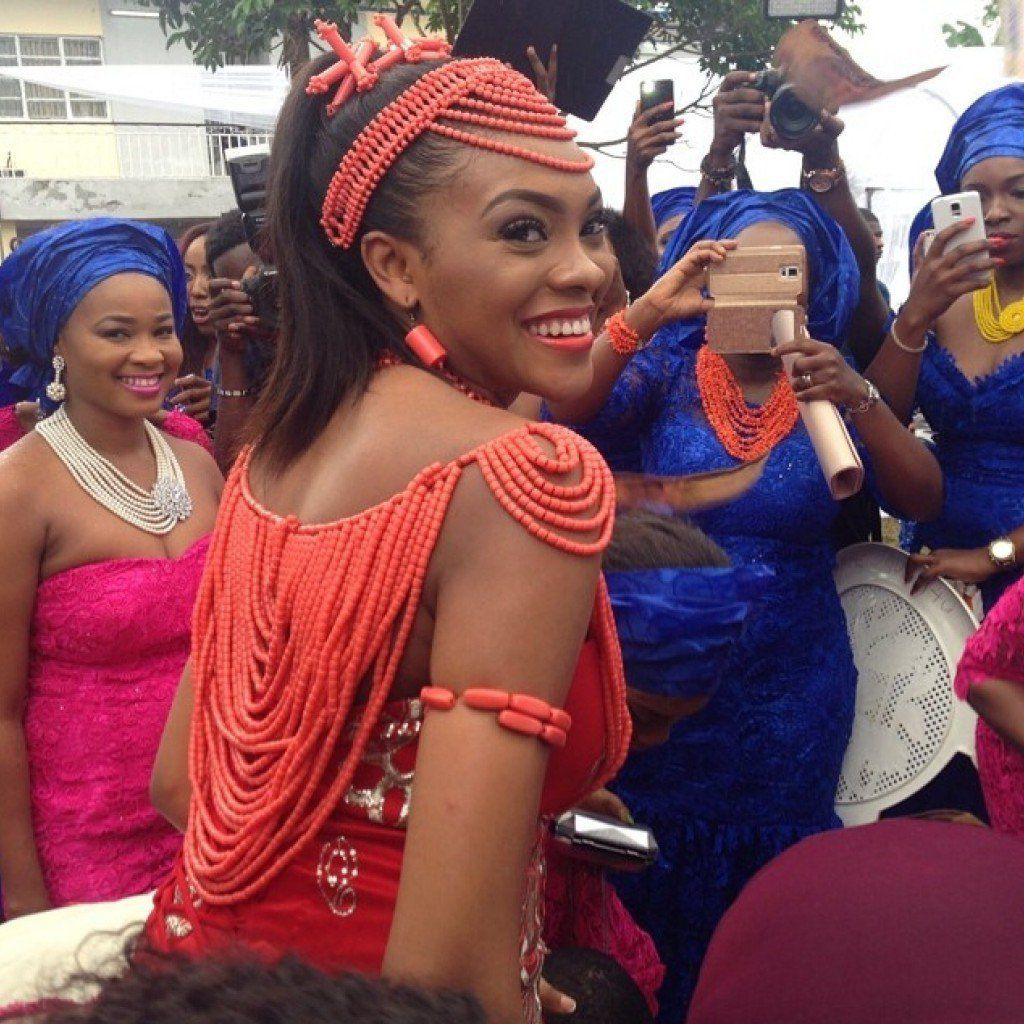 Adorned Bride. On traditional attires. (Ndigbo)