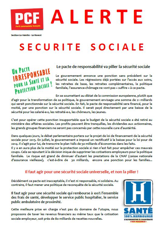 Alerte Sécurité sociale !