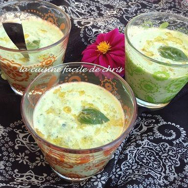 gaspacho de concombre, feta et lait ribot