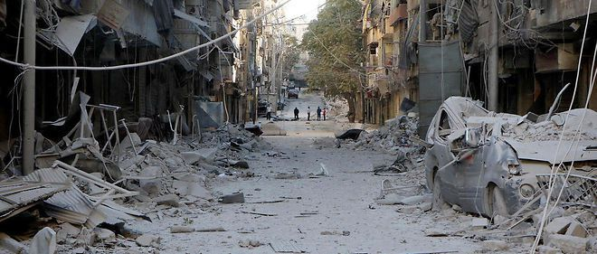 Le quartier Boustan al-Qasr à Alep, le 24 septembre 2016. Cinquante-six personnes auraient trouvé la mort lors d'un bombardement par les forces du régime appuyées par les Russes.  © AFP/ Ibrahim Ebu Leys