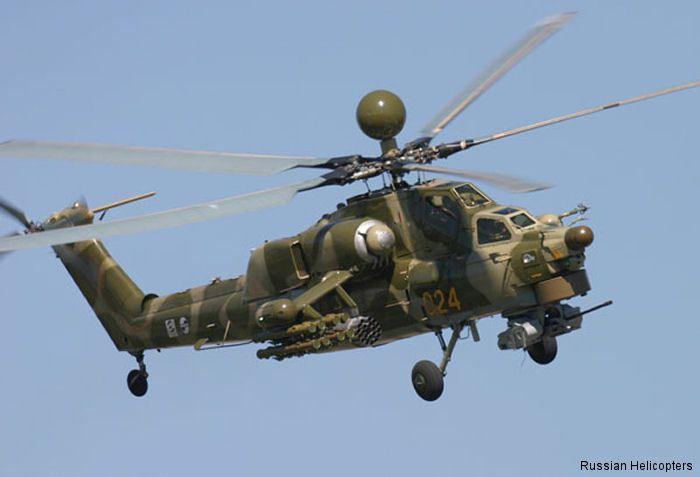 Le Mi-28, un hélicoptère d'attaque qui est utilisé en Syrie.