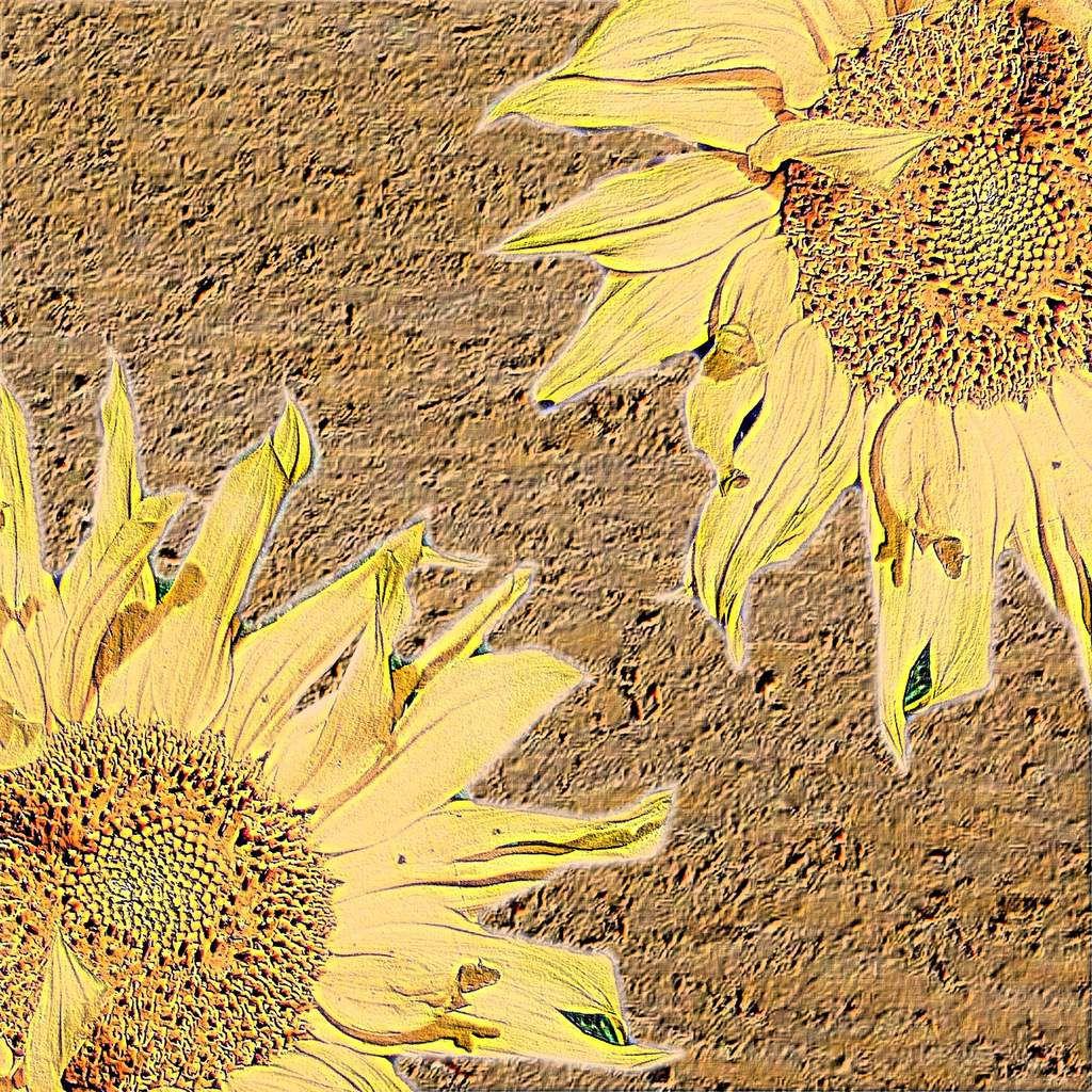 Sonnenblumen auf Sand