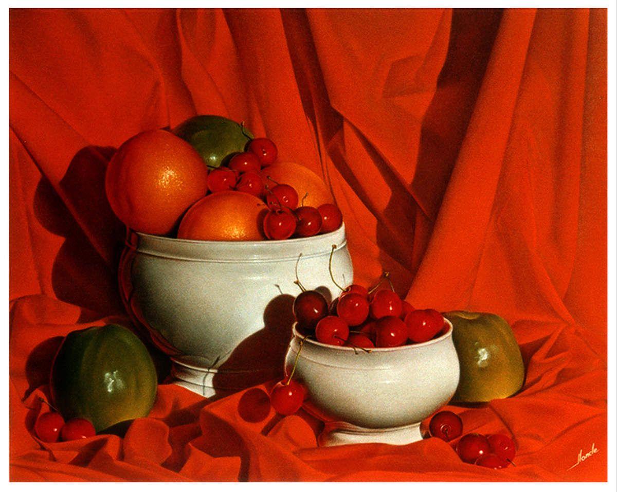 Coupe de Fruits. 40x50 (environ). Pastel Card 1995