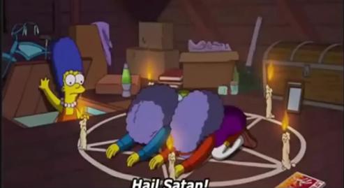 Simpson: Vénération, Culte à Satan exposer