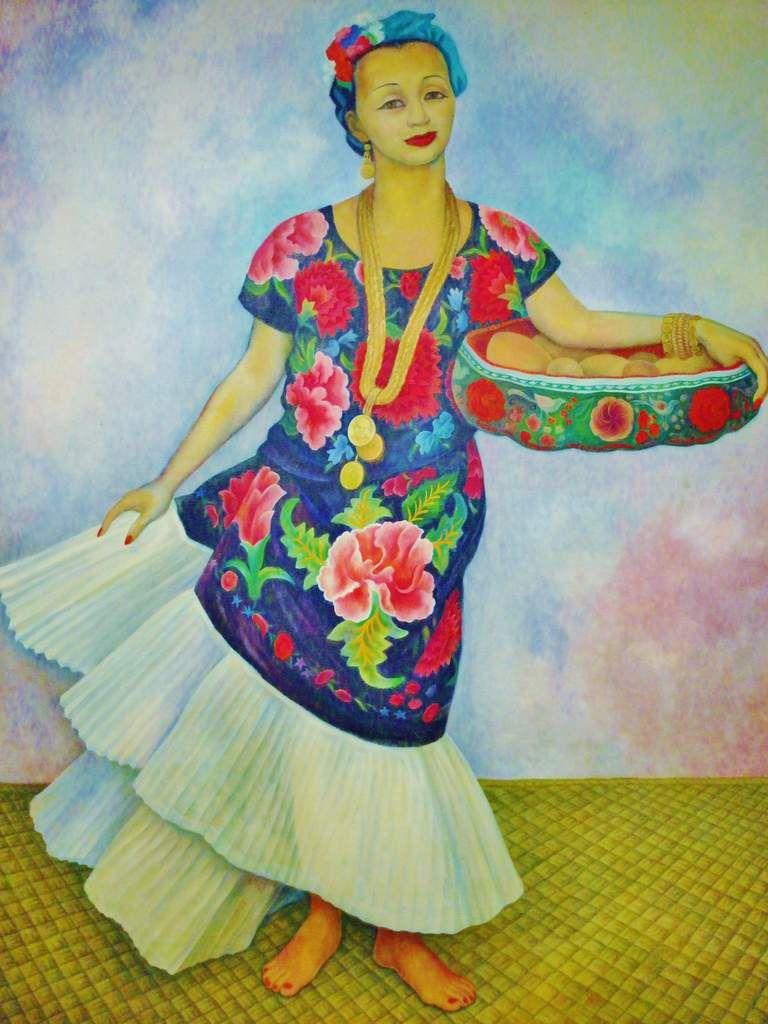 Portrait de Dolores Olmedo - Diego Riveira 1955 - Copyright mycottoncloud