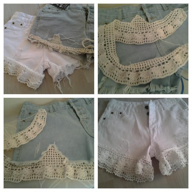 Customisation de short au crochet