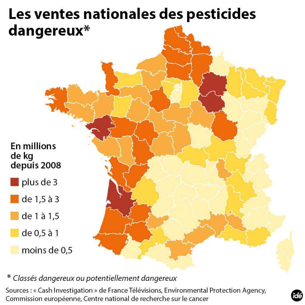 CASH-INVESTIGATION : 610 tonnes de pesticides dangereux vendus dans le VAR.