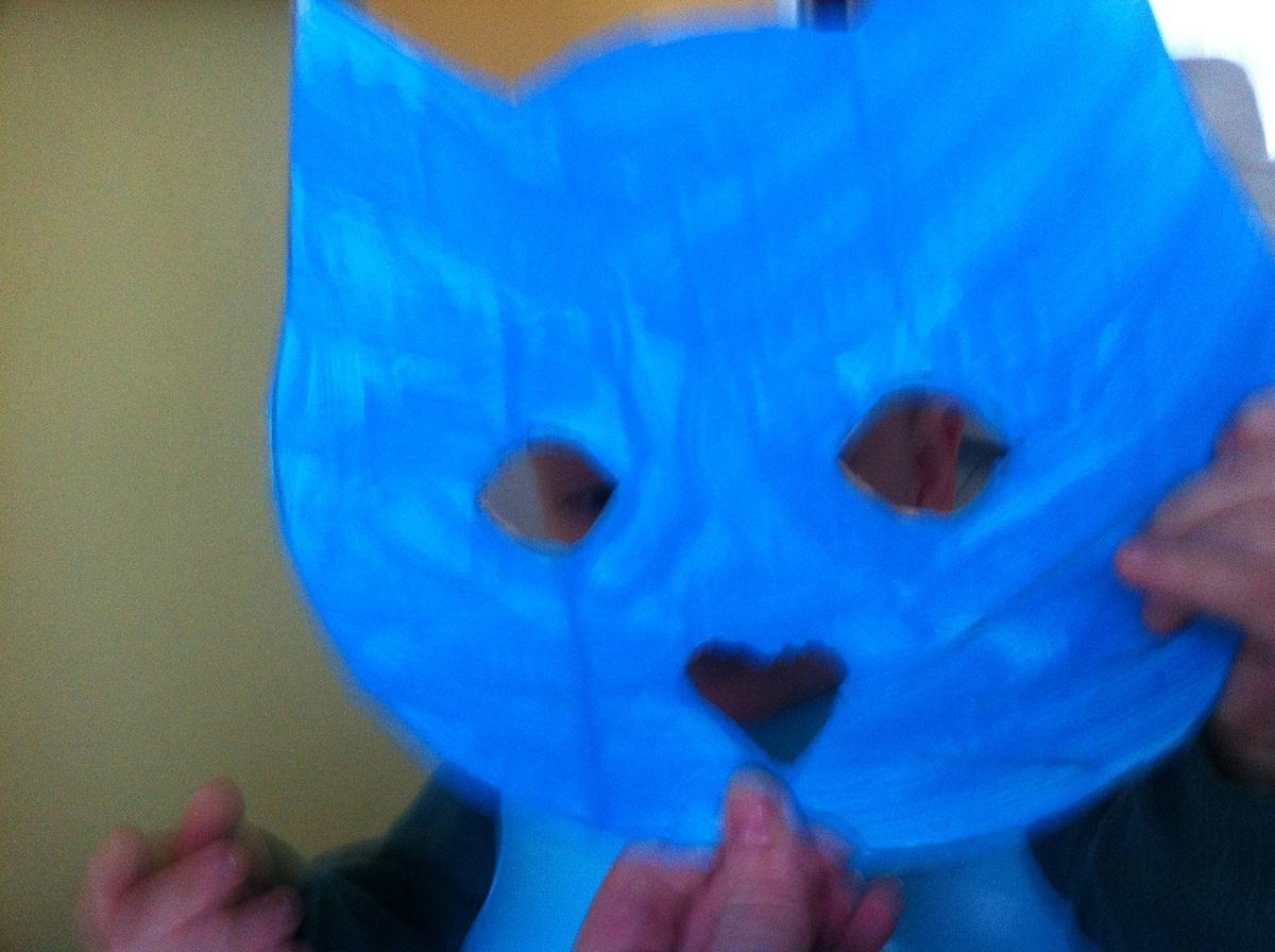 le petit chat pour malo(masque a la peinture)