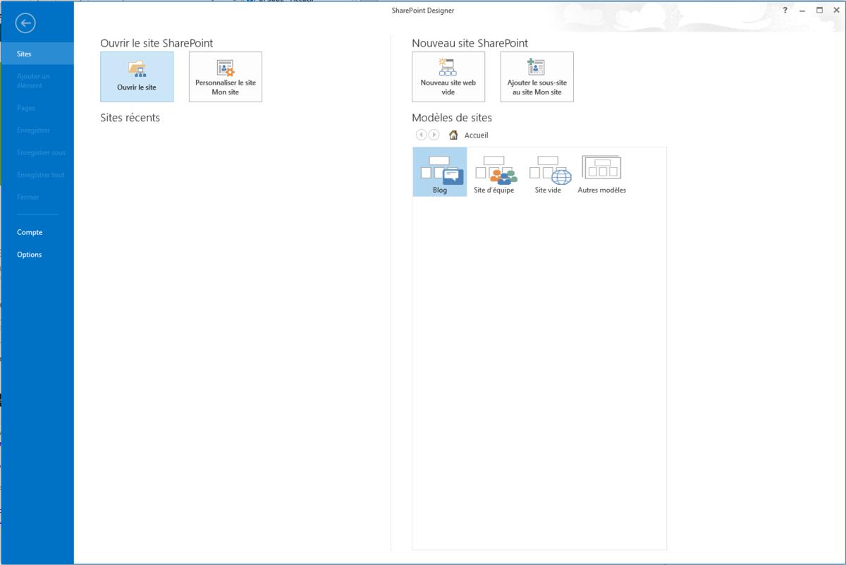Modifier la master page de SharePoint via SharePoint Designer 2013