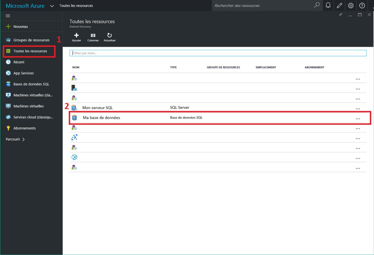 Azure : changer le mot de passe administrateur d'une database sql server (nouveau portail)