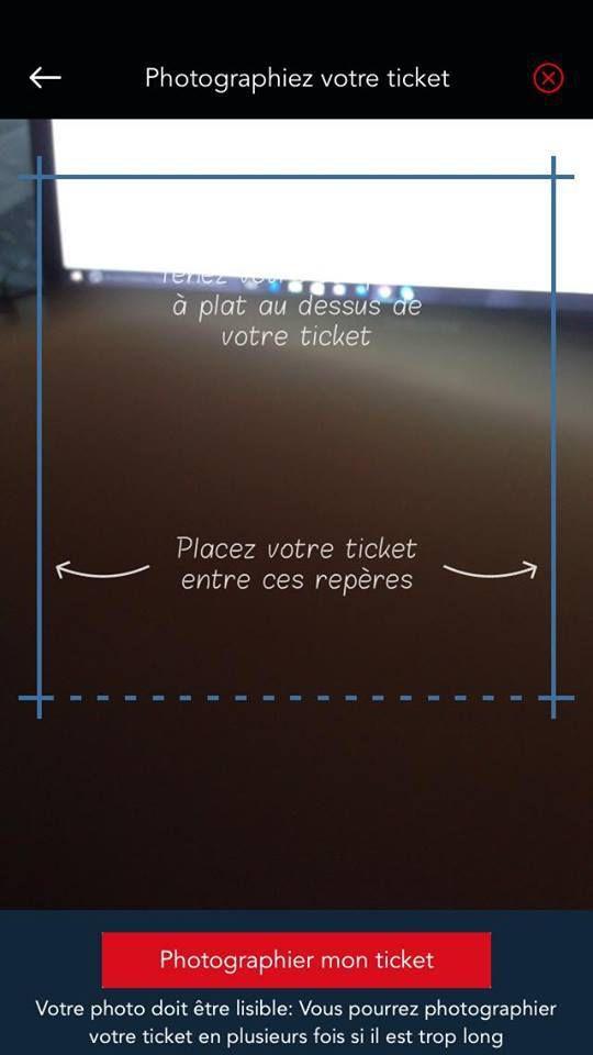 Photographiez le ticket