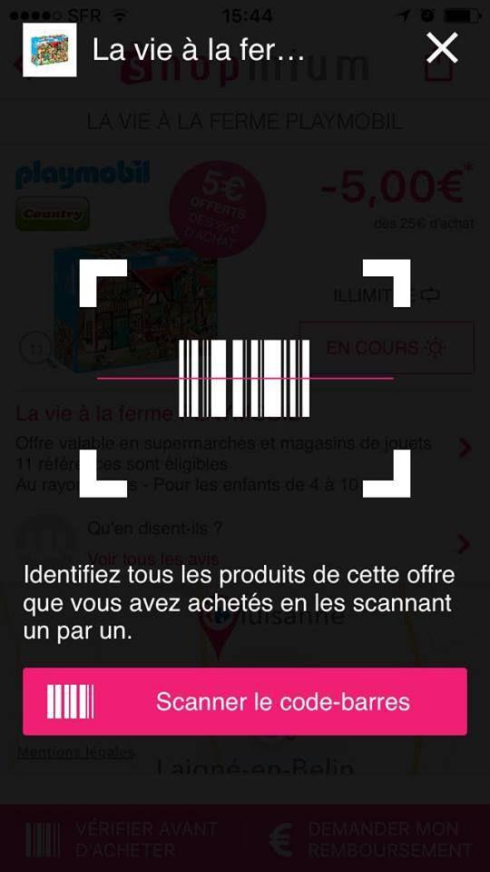 Scanner tout les produits ! POur cela cliquer sur Scanner un produit additionnel