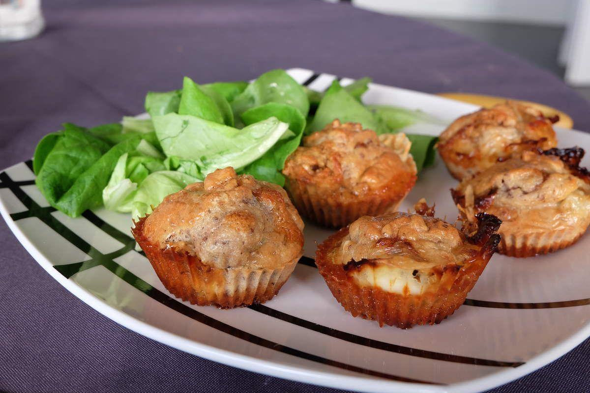 Muffins chèvre-noix
