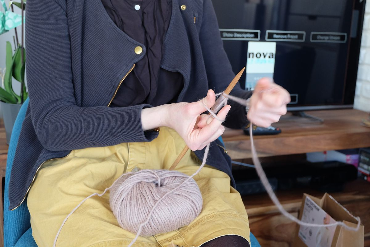 Mauve chiné - We are Knitters