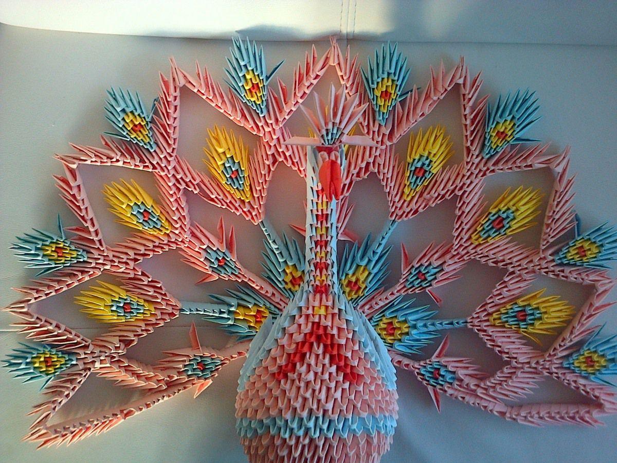 Paon en origami 3D Mes créations avec du papier