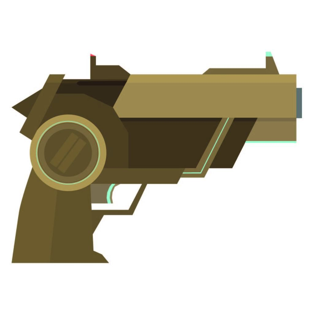 Pistolet futuriste (Force bleu)
