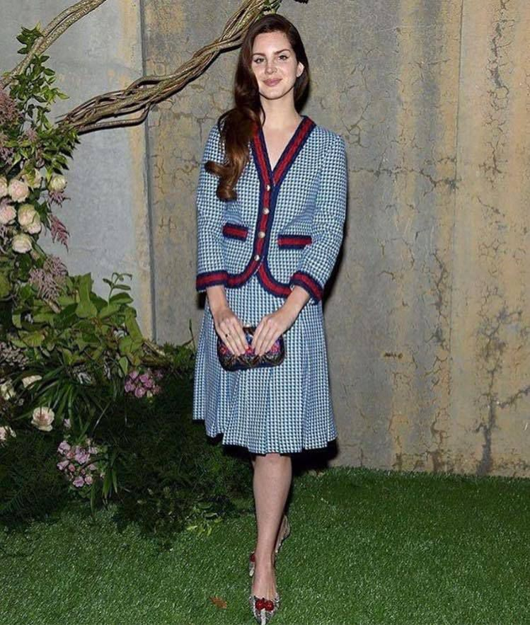 Lana Del Rey présente à la fête Gucci Bloom Launch (02/05/2017)