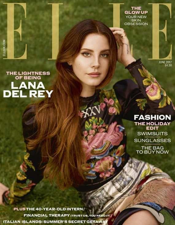 Lana Del Rey en couverture du magazine ELLE