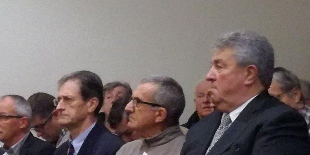 Le sénateur Carrère dans la salle d'audience du tribunal montois, jeudi. © V. D.