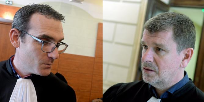 ace-à-face entre les avocats Mes Aurélien Vergani et Luc Abratkiewicz. Photo : Alexis Bethune