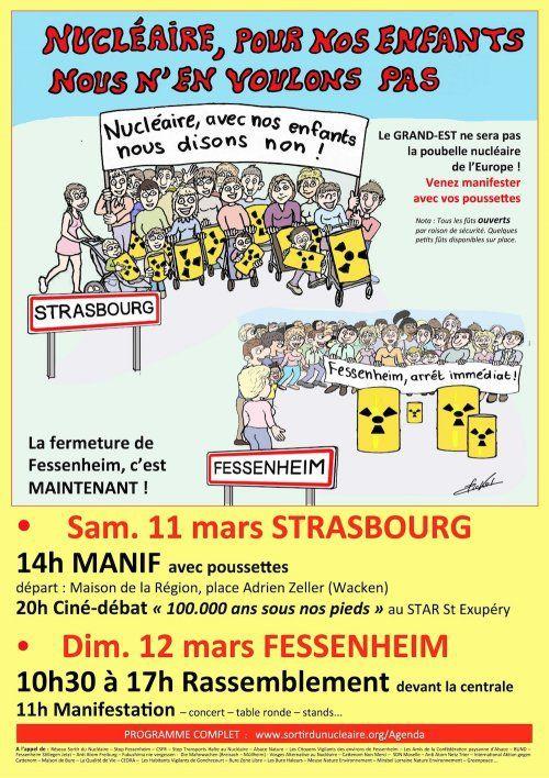 Nucléaire – Fessenheim : Manifestations à Strasbourg et Fessenheim