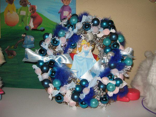 Notre couronne d'hiver sur le thème Reine des neiges