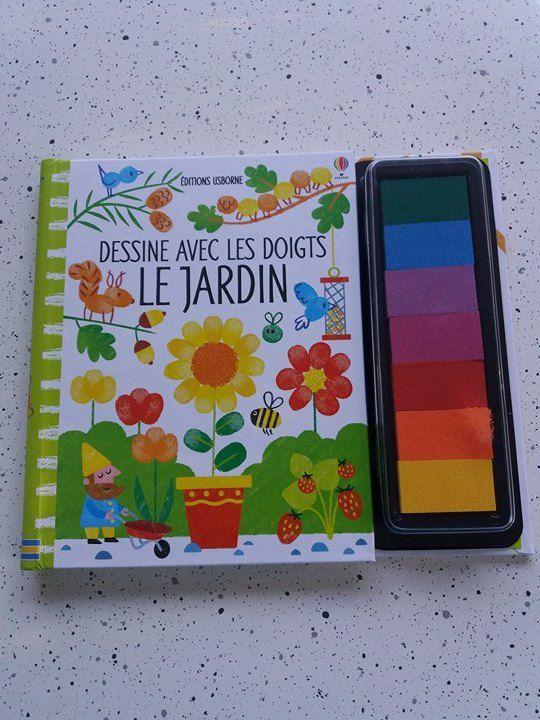 Activité manuelle pour enfants - Dessine avec les doigts le jardin avec les Editions Usborne