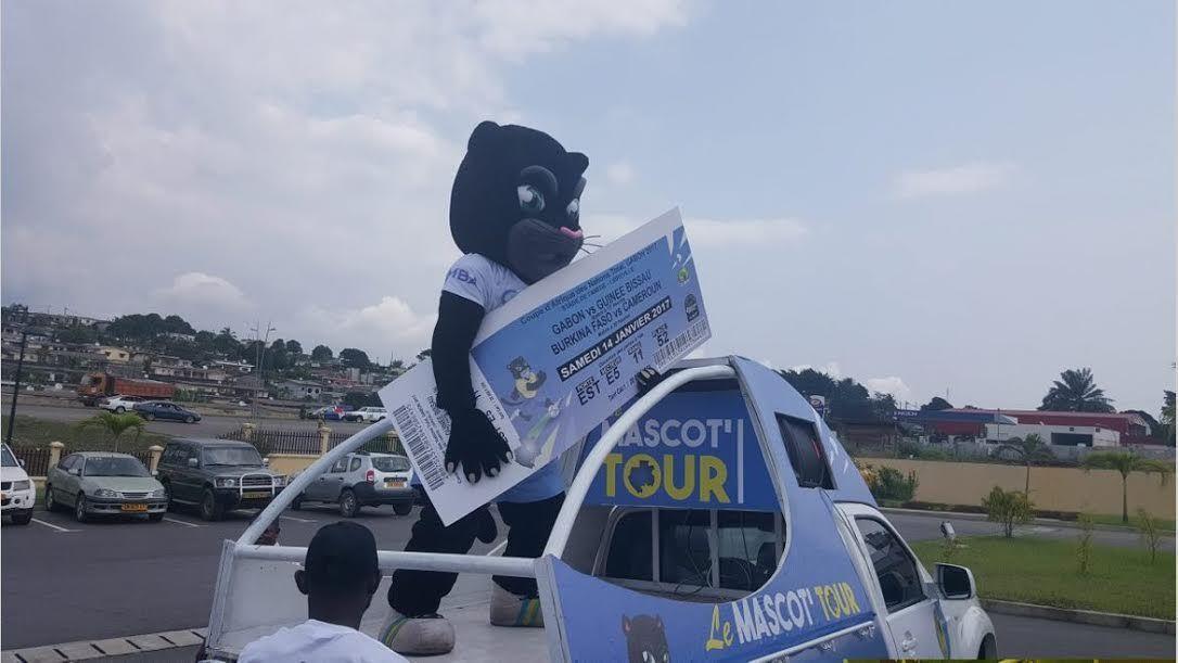 La mascotte de la Can-2017, Samba a lancé hier, au Trésor public de Nzeng-Ayong. sango ti kodro