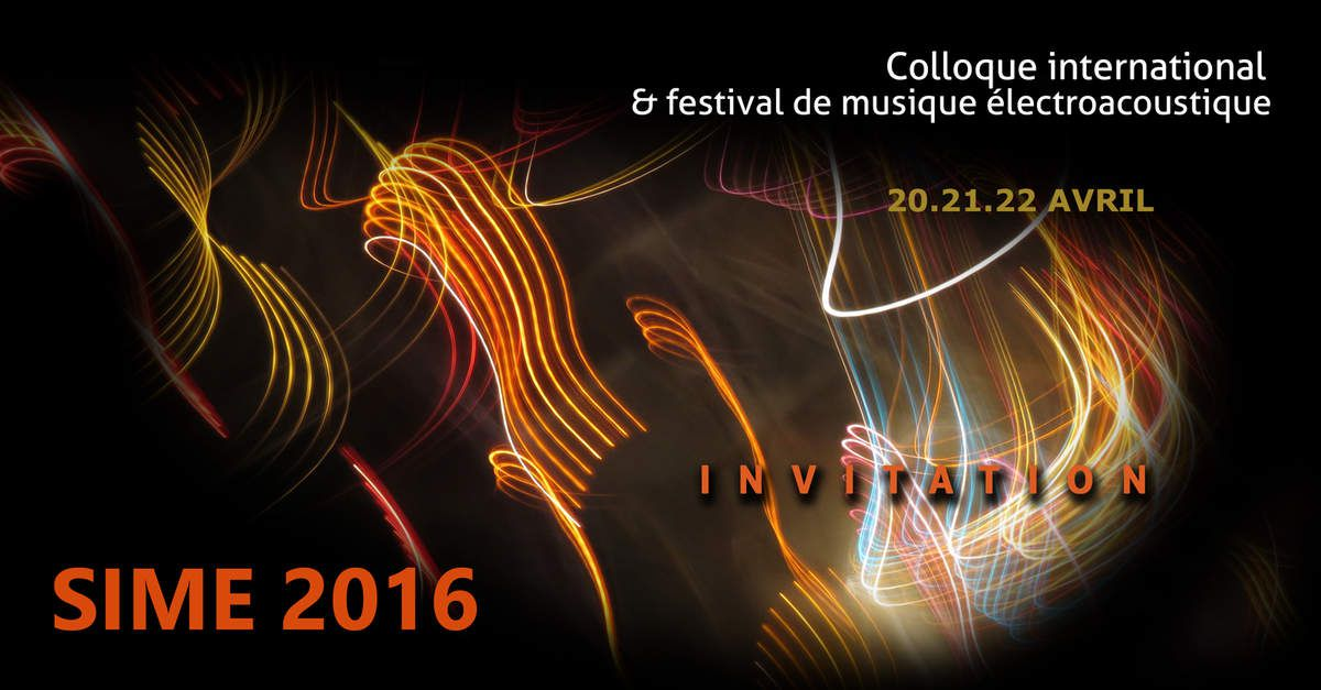 Voici l'invitation officielle au concert inaugural de la SIME 2016