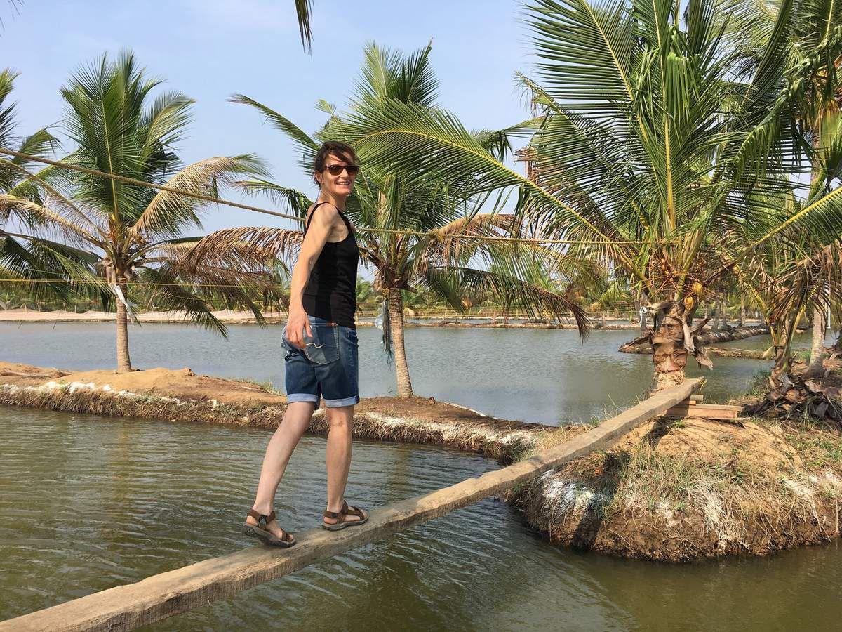 …les pieds dans l'eau, la tête dans les palmiers !