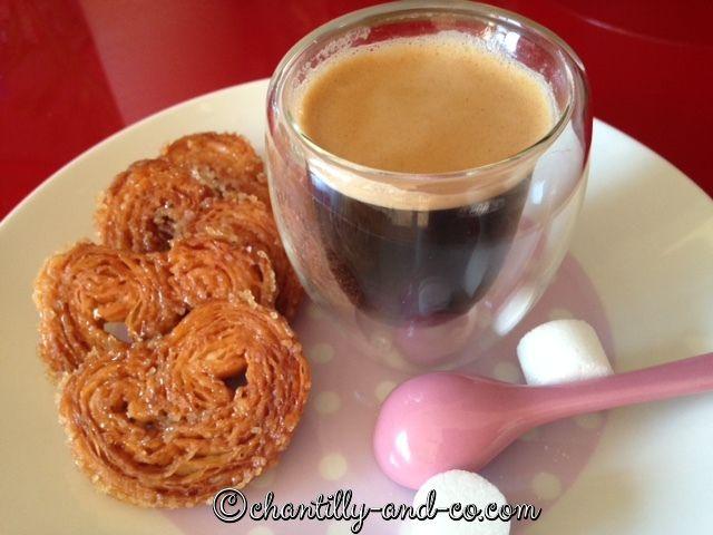 Palmier homemade pour un petit café gourmand
