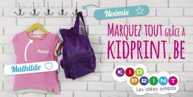 Etiquettes nominatives KIDPRINT - Maman à temps plein