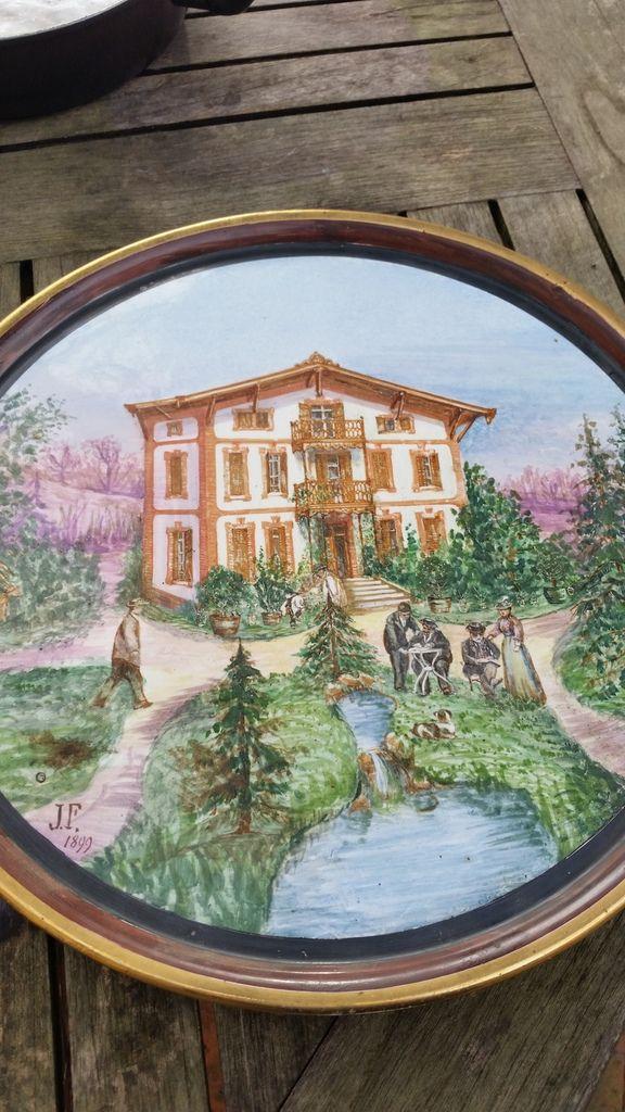 plat céramique 45 cm de diamètre
