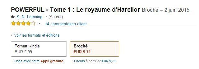 "Amazon Kindle - Saga ""Powerful - Tome 1 : Le royaume d'Harcilor"""