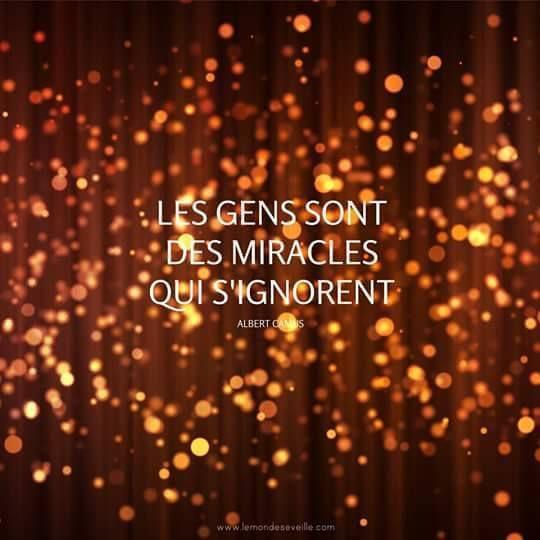 .les gens sont des miracles qui s'ignorent
