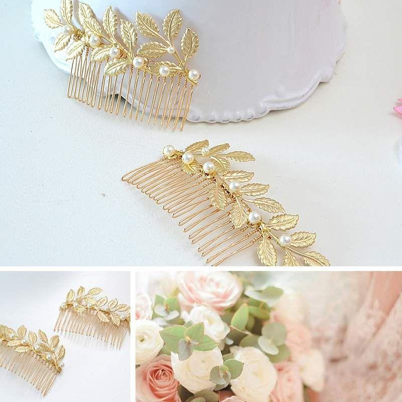 Peigne de mariée romantique Atelier Sarah Aime