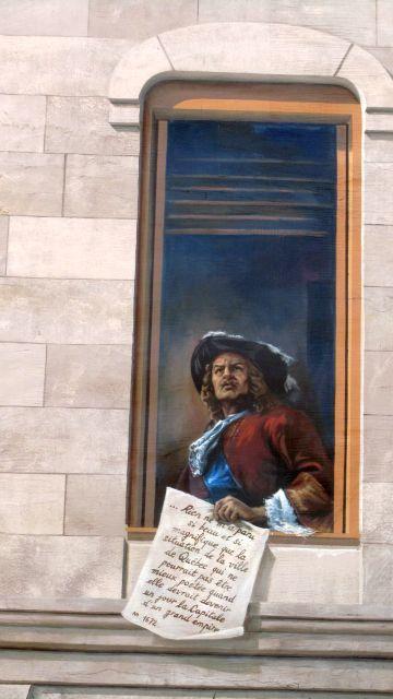 Près de la Place Royale, la fresque des Québécois