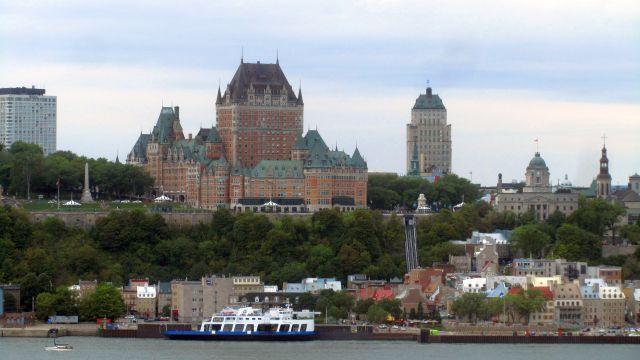 Depuis Lévis, la vue sur Québec est impressionnante.
