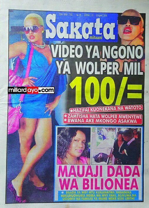 MAPYA YAIBUKA, VIDEO YA NGONO YA JACKLINE WOLPER  MIL. 100...