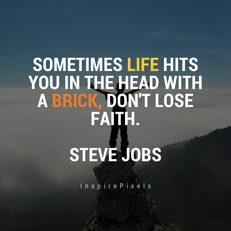 Sometimes life hits us over the head with a brick...