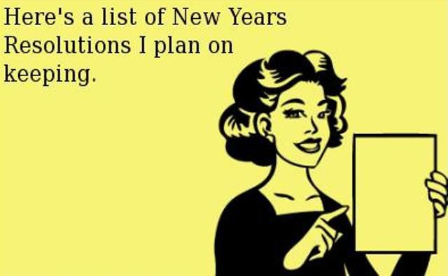 Stick to those New Year's Resolutions!