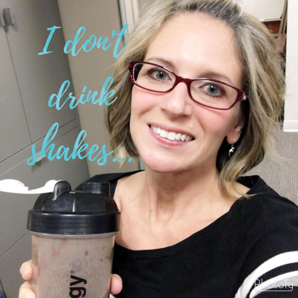 I don't drink shakes...