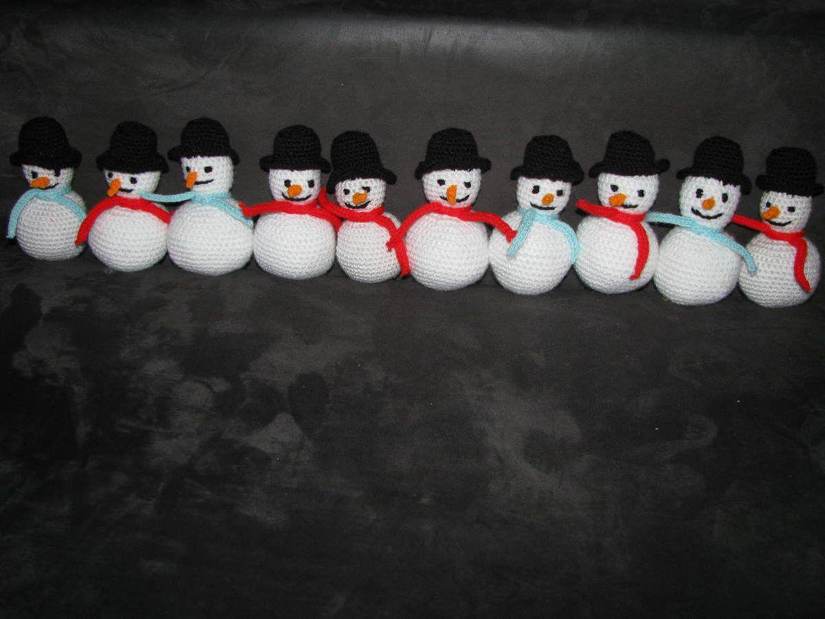 Bonhommes de neige à gogo