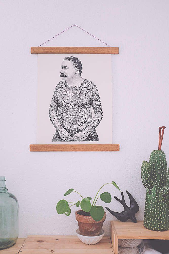 diy un encadrement d affiche de style vintage melo id life style ideas. Black Bedroom Furniture Sets. Home Design Ideas